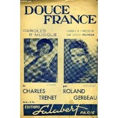 Douce France Partition Pour Le Chant de Charles Tr�net