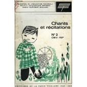 Recueil De Chants Et De Textes De Recitation, Livret N� 2, Cm 2, Fep de Collectif