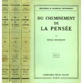 Du Cheminement De La Pensee, 3 Tomes de Meyerson Emile