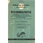 Psychodiagnostic, Methodes Et Resultats D'une Experience Diagnostique De Perception (Interpretation Libre De Formes Fortuites) de Rorschach Dr Hermann