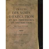 Precis Des Voies D'execution Et Des Procedures De Distribution de Cuche Paul