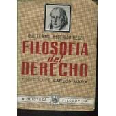 Filosofia Del Derecho. Introductyion De Carlos Max de Guillermo Federici Hegel