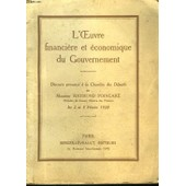 L'oeuvre Financiere Et Economique Du Gouvernement de raymond poincare