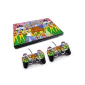 Skin Sticker Sony Ps2 + 2 Manettes - Les Simpsons Circus