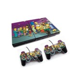 Skin Sticker Sony Ps2 + 2 Manettes - Les Simpsons Cinema