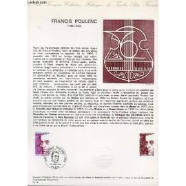 Document Philatelique Officiel N�19-74 - Francis Poulenc (1899-1963) (N�1785 Yvert Et Teillier)