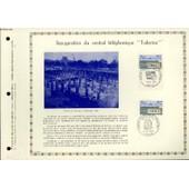 Feuillet Artistique Philatelique - Pac - 73 - 16 - Inauguration Du Central Telephonique Tuileries de Collectif