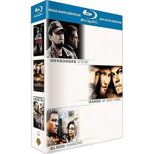Coffret Leonardo Di Caprio - Mensonges d'état + Gangs of New York + Blood Diamond [Coffret 3 Blu-Ray]