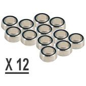 Cheapatleast 042 - 12 piles acoustiques pour appareil auditif (sonotone)