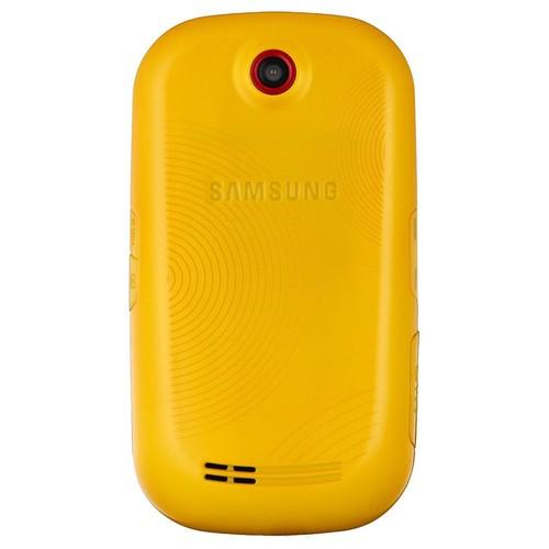 b1701fc0b835e Coque jaune façade cache batterie pour samsung corby s3650