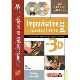 Maugain : improvisation au saxophone jazz en 3D (+ 1 CD + 1 DVD)