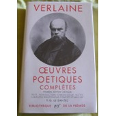 Oeuvres Po�tiques Compl�tes de Paul Verlaine