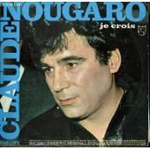 Disque Vinyle 33t Je Crois / Cote D'azur / Armstrong / Bidonville / Une Bouteille A La Mer / Demain Je Chanterai / L'amour Sorcier - Claude Nougaro