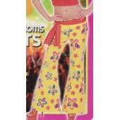 Pantalon Jaune Flowers Pattes D'elephant A Fleurs Deguisement Hippie Annee 1970 Disco