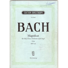 BACH CARL PHILIPP EMANUEL - MAGNIFICAT FOR SOLI, CHORUS,AND ORCHESTRA