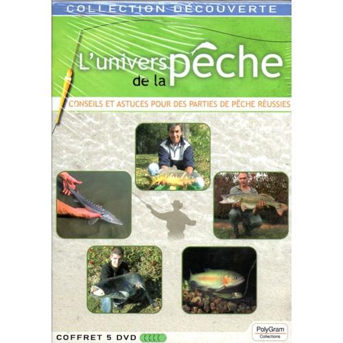 COFFRET 5 DVD: L'UNIVERS DE LA PÊCHE  (COFFRET DE 5 DVD)