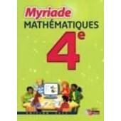 Myriade Math�matiques 4e de Boullis Marc