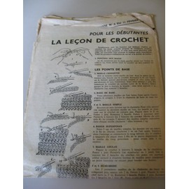 Suppl�ment � L'echo De La Mode N� 6 Du 11/02/1962 - La Le�on De Crochet