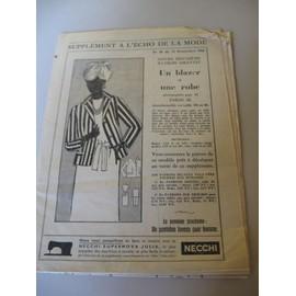 Suppl�ment � L'echo De La Mode N� 46 Du 12/11/1961 - Patron Blazer Et Robe