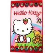 Hello Kitty - Tapis Descente De Lit Rose Bords Rouge 50 X 80 Cm