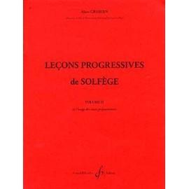 30 LECONS PROGRESSIVES DE LECTURE DE NOTES ET DE SOLFEGE VOL. 2 A. GRIMOIN