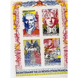 Bloc Y&T 2667 à 2670 (Bicentenaire de la revolution) 1990
