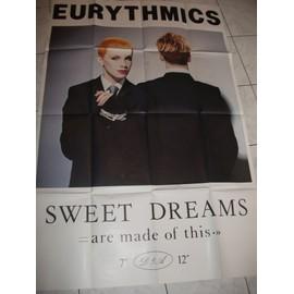 AFFICHE ORIGINALE EURYTMICS SWEET DREAMS