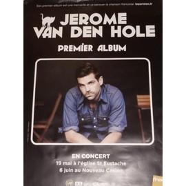 JEROME VAN DEN HOLE affiche 75 x 58 cm concert 2011. EMI
