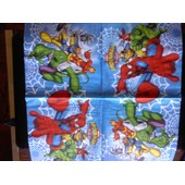 Lot 2 Serviettes En Papier Marvel Spider-Man & Friends Sur Fond Bleu