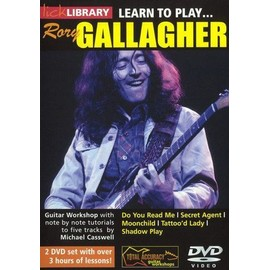 METHODE AVEC 2 DVD  LICK LIBRARY LEARN TO PLAY GALLAGHER RORY