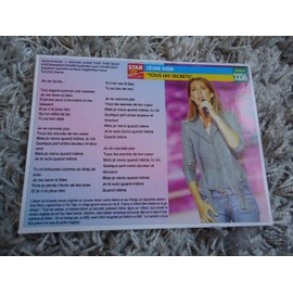 7 fiches chanson Céline Dion / Madame Kay / Backstreet Boys / Corneille / Jean-Pascal / Tilly Key / Natacha Atlas / The tamperer feat Maya + 1 carte + 1 mini carte