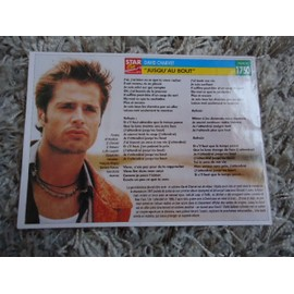 1 Fiche chanson David Charvet / Stomy Bugsy + 1 carte David Charvet