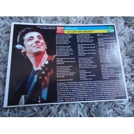 1 Fiche chanson Patrick Bruel / Sisqo + 1 carte Patrick Bruel