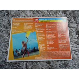 4 fiches chanson Shakira / Juanes / Mickey 3D /Liberty X /Félicien + 1 mini carte Shakira