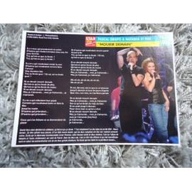 3 Fiches chanson Natasha St Pier / Hélène Ségara / Willy Denzey / Jamiroquai + 2 cartes Natasha St Pier + 1 mini carte Natasha St pier