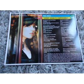 2 Fiches chanson Tina Arena / Clémence / Scottie + 1 carte Tina Arena + 1 mini carte Tina Arena