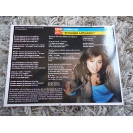 4 Fiches chanson Chimène Badi / Laam / Natasha Bedingfield / Michel Sardou & Garou/ Blue + 1 carte Chimène Badi + 1 carte secret Chimène Badi