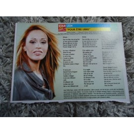Lot de 3 fiches chanson Laam / Ricky Martin / Saez / Pierpoljak + 1 carte Laam