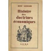 Histoire Des Doctrines Economiques de Gonnard Rene