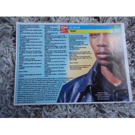 Fiche chanson Mc Solaar / R.Kelly + 1 carte secret Mc Solaar