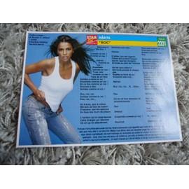 3 Fiches chanson Nâdiya / Ilona Metrecey / Mary J Blige / Faudel