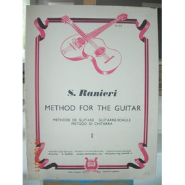 METHODE DE GUITARE - METHOD FOR THE GUITAR S. Ranieri Editeur A. Cranz Made in England