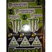 Stickers Monster Energy Planche De 45x30 Cm Moto Quad