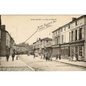 Carte Postale Dat�e De 1909 Saint-Dizier La Rue Du March�