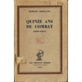 Quinze Ans De Combat 1919-1934 de Romain Rolland