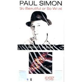 PAUL SIMON PLV PLAQUETTE SO BEAUTIFUL OR SO WHAT