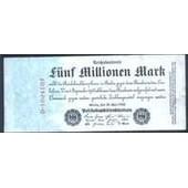 Allemagne = Billet Uniface De 5 Millions De Marks, Ann�e 1923.