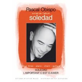 Obispo : soledad et l'important c'est d'aimer - chant + piano + guitare