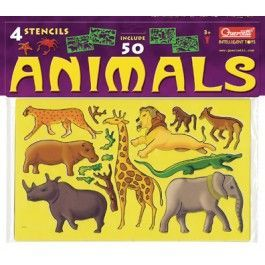 Lot De 4 Pochoirs Animaux