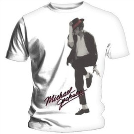 T-SHIRT MICHAEL JACKSON BLANC DANCER AT LARGE L (T-SHIRT TAILLE LARGE)